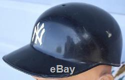 6d1aeefba29 Vintage Abc New York Yankees Game Used Batting Hard Hat Baseball Cap Helmet   2