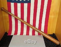 Vintage Antique Joseph Kren Kren's Fungo Wood Baseball Bat 35.5 Syracuse, N. Y