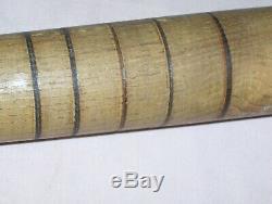 Vintage Antique Ring Baseball Bat Lathe marks and Several Rings Flair Knob