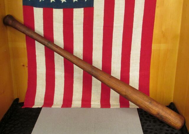Vintage Antique Wood Baseball Bat Hand Made/turned Oak 35 Folk Art Nice Display