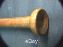 Vintage Australian Black Wood Baseball Bat Sport Memorabilia
