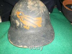 Vintage Baltimore Orioles Fiberglass Baseball Batting Helmet
