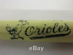 Vintage Baltimore Orioles MLB Baseball Mini Souvenir Baseball Bat Approx 8
