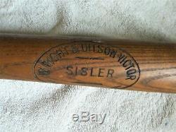Vintage Baseball Bat GEORGE SISLER Wright Ditson Victor Baseball Bat 1920s NICE