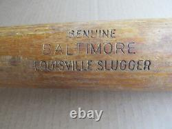 Vintage Baseball Bat Lousiville Slugger 125 Hillerich Bradsby Baltimore F3 Model