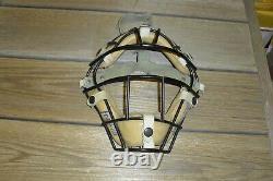 Vintage Baseball Catchers Equipment Guards Chest Protect Mask Glove Shoes Bat