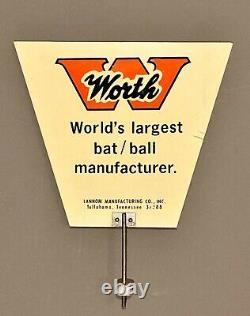 Vintage Baseball Worth World's Largest Bat/ball Manufacturer Advertising Sign