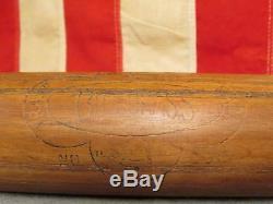 Vintage Bluegrass Wood Baseball Bat Belknap No. BGS 34 early Memorabilia Rare