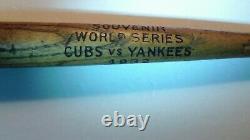 Vintage Chicago Cubs vs NY Yankees1932 World Series Souvenir Baseball Bat