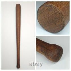 Vintage Circa 1900 Baseball Bat Flat Ended Acorn Mushroom Round Knob EXCELLENT