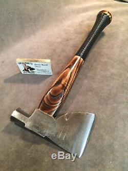 Vintage Collins carpenters axe hatchet custom JESSE REED baseball bat handle