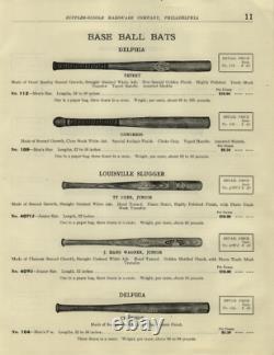 Vintage Early 1900's Supplee-Biddle Hardware Co. Delphia Champion Baseball Bat