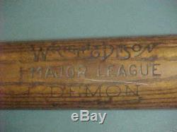 Vintage, Early 1900's WRIGHT & DITSON Major League DEMON Model Baseball Bat