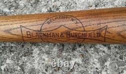 Vintage Early Baseball Bat BLACKMAN & BURCHFIELD Belmont New York NICE 35