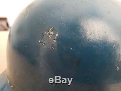 Vintage Early Baseball Flapless Batting Helmet ABC Fiberglass 1950s 60s Carved
