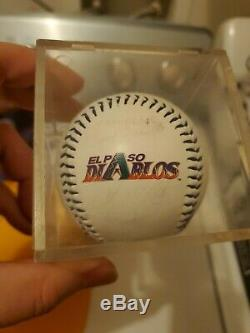 Vintage El Paso Diablos Baseball Lot Bat, Signed Baseball and Glove, Hat