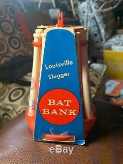Vintage Famous Sluggers MLB Louisville Slugger Mini Baseball Bat Coin Bank