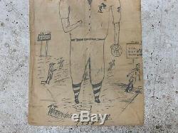 Vintage Folk Art Drawing on Baseball Bat Bag Warrendale Little League