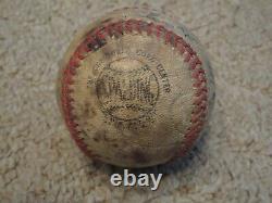 Vintage Game Used Jim Ray Hart K75 Baseball Bat with National League Ball 1968