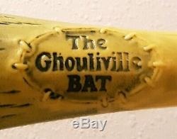 Vintage Ghouliville Monster Baseball Bat Marchon Madballs Weird Balls 80's Toys