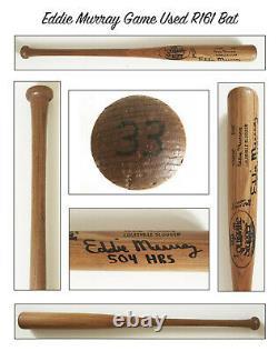 Vintage Hall of Fame Eddie Murray Autographed Game Used Louisville Slugger R161