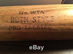 Vintage Hanna Batrite Baseball Bat Michigan State University Babe Ruth Model
