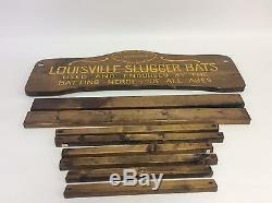 Vintage Hillerich Bradsby Louisville Slugger Baseball Bat Rack