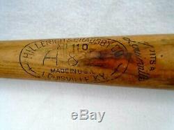 Vintage Hillerich & Bradsby Whitey Lockman NO. 110 Major League Baseball H&B Bat