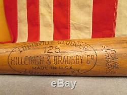 Vintage Hillerich & Bradsby Wood 125 Baseball Bat 34 Wally Moon Model Dodgers