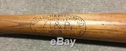 Vintage Hillerich & Bradsby Wood Baseball Bat H&B Leader Mel Ott HOF 34