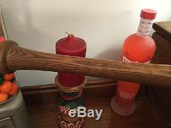Vintage J. G. Johnson Baseball Bat Bottle Style 32 1/4, Sebago Lake Maine RARE