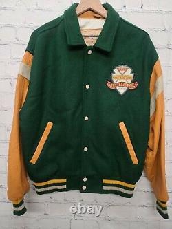 Vintage LOUISVILLE SLUGGER Authentic Letterman Varsity Baseball Bat Jacket Sz M