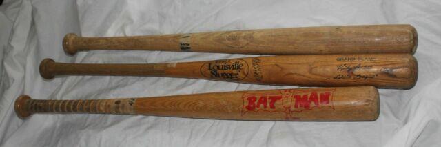 Vintage Lot 7 Wooden Collect Baseball Bats Adirondack Louisville Robinson Batman