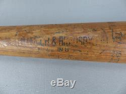 Vintage Lou Gehrig 34 Baseball Bat Hillerich & Bradsby 40 Louisville Slugger