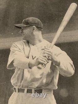 Vintage Lou Gehrig Postcard Unused Rare Standing With Bat Yankees