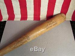 Vintage Louisville Slugger H&B Wood 125 Baseball Bat Al Kaline 34 1/2 Mr. Tiger