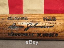 Vintage Louisville Slugger H&B Wood 125 Baseball Bat Fungo 37 Dave Johnson H29