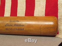 Vintage Louisville Slugger H&B Wood Baseball Bat Richie Ashburn 34 Phillies HOF