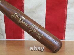 Vintage Louisville Slugger H&B Wood Baseball Mini Bat 40 J. Haus Honus Wagner 16
