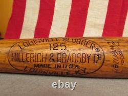 Vintage Louisville Slugger Maury Wils Baseball Bat Elizabethtown College, PA. 35