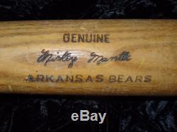 Vintage Louisville Slugger Mickey Mantle Arkansas Bears Baseball Bat 34 K55