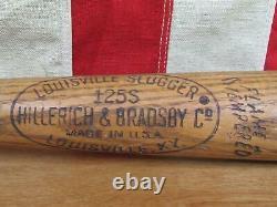 Vintage Louisville Slugger Wood 125 Baseball Bat Special Al Kaline HOF 33 Tiger