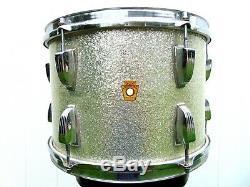 Vintage Ludwig Drums 1968 Silver Sparkle Tom 9x13 3ply Baseball Bat Muffler