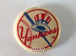 Vintage MLB New York Yankees Baseball Pin Pinback Button Logo Bat Out Of Hat