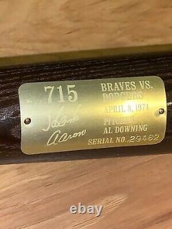 Vintage Magnavox HANK AARON 715 Home Run COMMEMORATIVE Baseball BAT + COA BOX