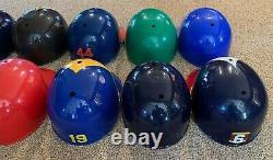 Vintage Major League Baseball MLB Full Size Plastic Batting Helmets Lot of 11
