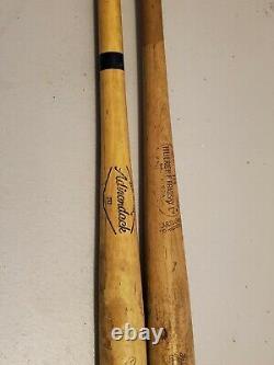 Vintage Mickey Mantle Louisville Slugger 125 Powerized Baseball Bat & Fisk Bat