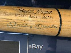 Vintage Mickey Mantle Signed Baseball Bat Full Letter Of Authenticity JSA