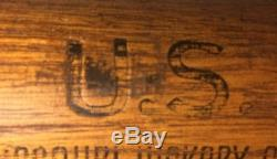 Vintage Missouri Hickory Co. U. S. Military Baseball Bat Rare Maker 34 Long