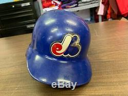 Vintage Montreal Expos Game Used MLB Baseball Batting Helmet 7 1/2